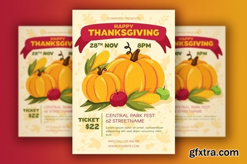Thanksgiving Poster With Harvest