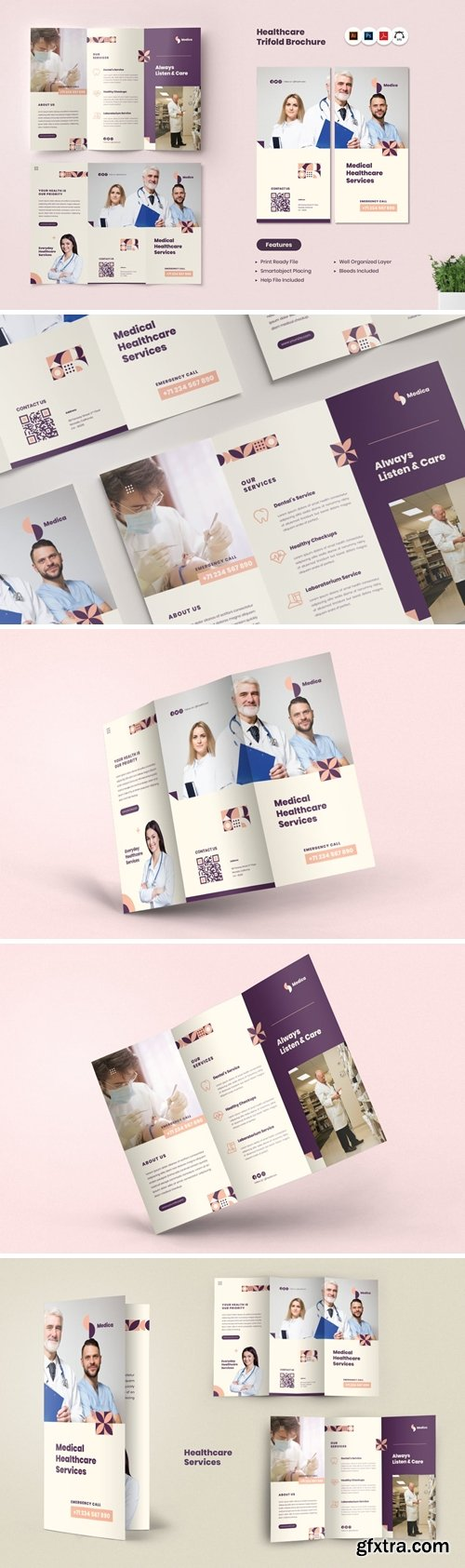 Medical Healthcare Trifold Brochure