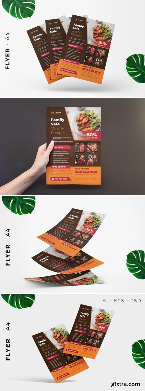 Cooking Recipe Flyer Design