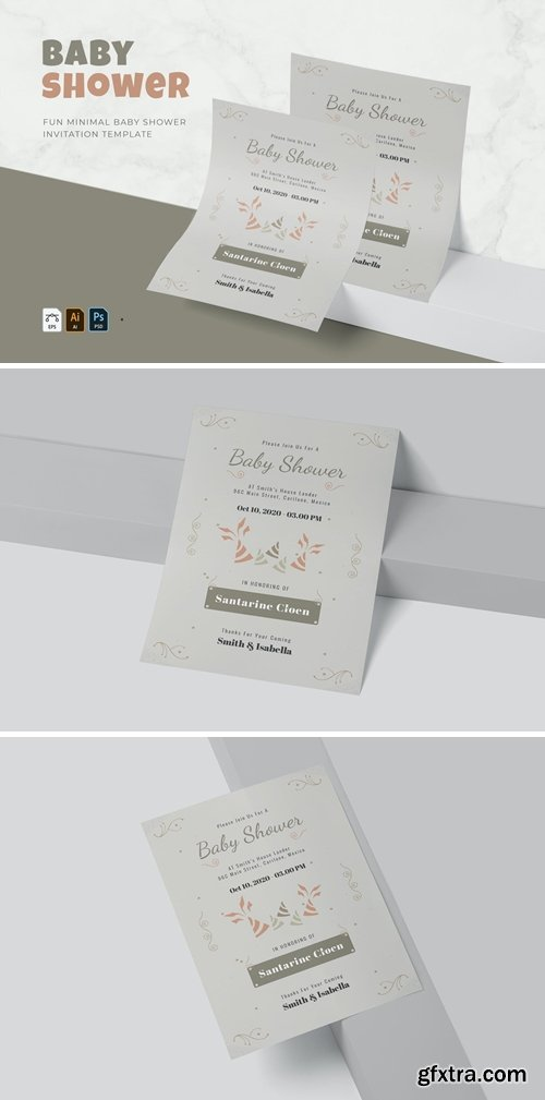 Fun Minimal | Baby Shower Invitation
