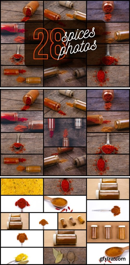 Set of 28 Spices Photos 6089670