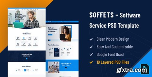 ThemeForest - Soffets v1.0 - Software and IT Service PSD Template - 28722289