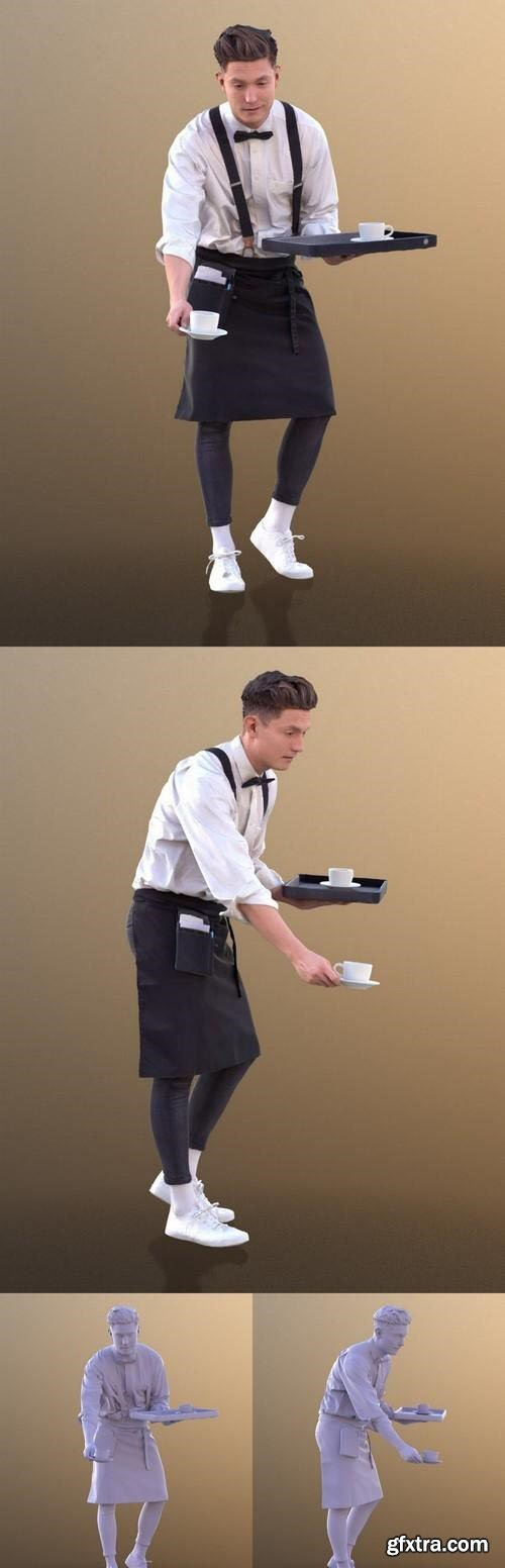 Waiter Serving 3d model