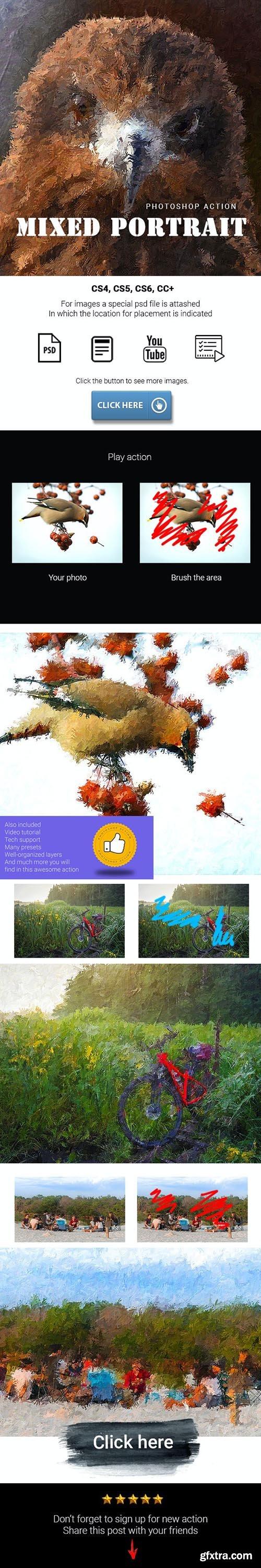 GraphicRiver - Mixed Portrait Photoshop Action 28318393