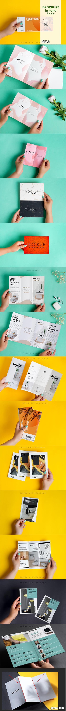 CreativeMarket - Brochure Mockup in Hand Kit 5204874