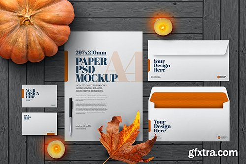 Halloween Autumn Stationery Mockup