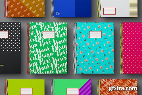 School Notebook Mockup Set