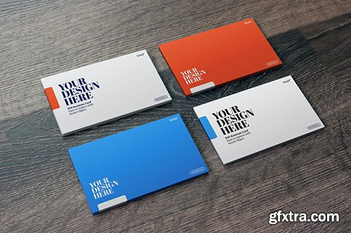 """Business Card Mockup- 3.5x2"""" Perspective"""