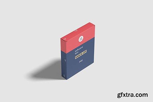 Software Box Mockup High Angle Shot