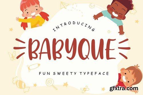 Babyque Fun Sweety Typeface