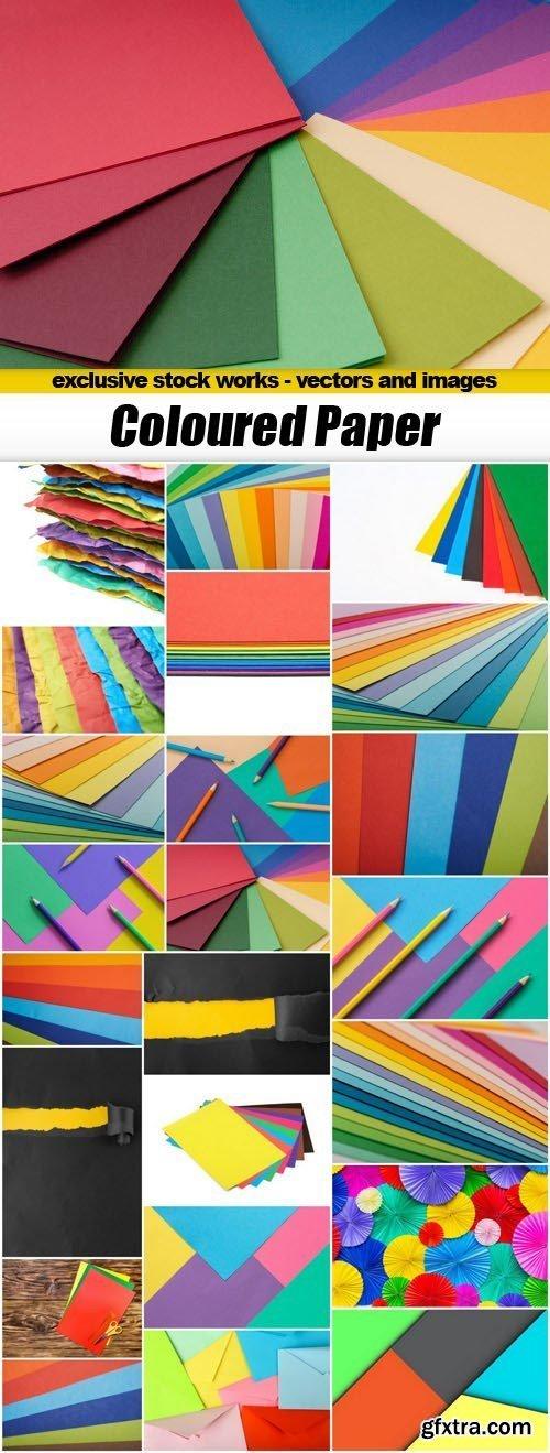 Coloured Paper - 23xUHQ JPEG