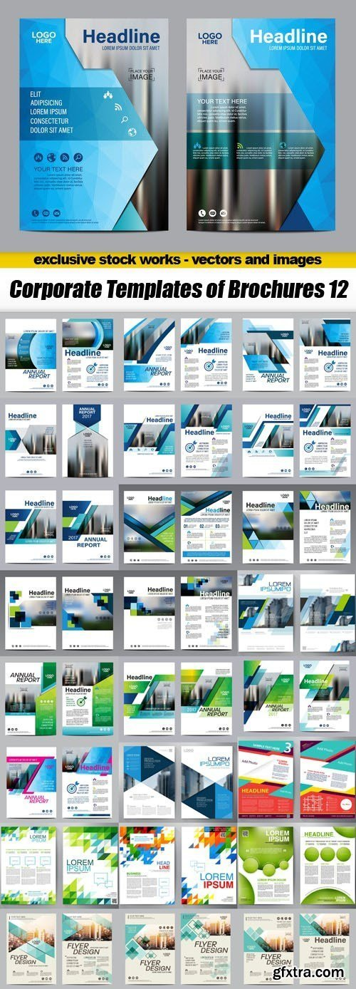 Corporate Templates of Brochures 12 - 25xEPS