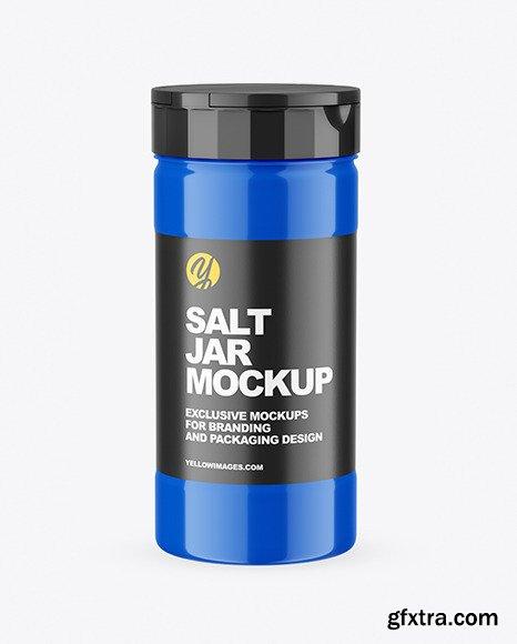 Glossy Salt Jar Mockup 68525