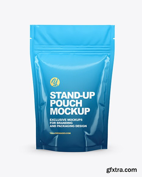 Glossy Stand Up Pouch Mockup 68519