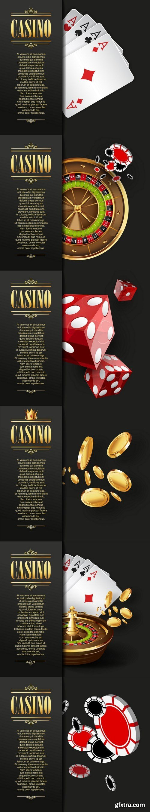 Casino templates - 6xEPS