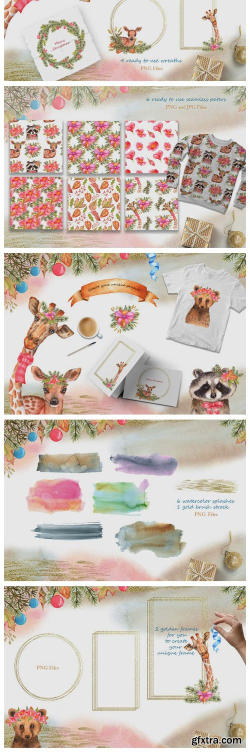 Winter Friends Watercolor Collection 6218364
