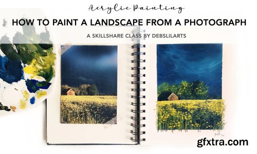 Acrylic Painting For Beginners: How To Paint A Landscape From A Photograph