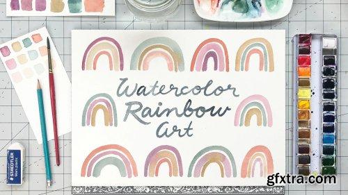 Watercolor Rainbow Art - for Beginners