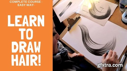 ★COMPLETE COURSE - EASY WAY; TO DRAW HAIR - FROM BEGINNER TO ADVANCED★