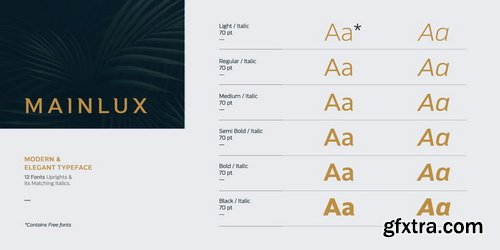 Mainlux Font Family