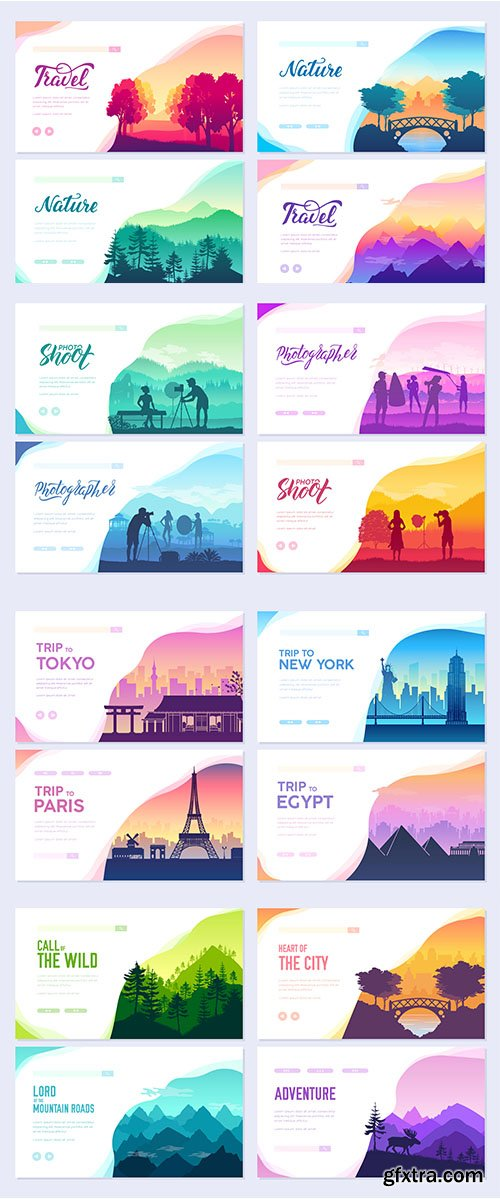 Collection of ecology template of flyer