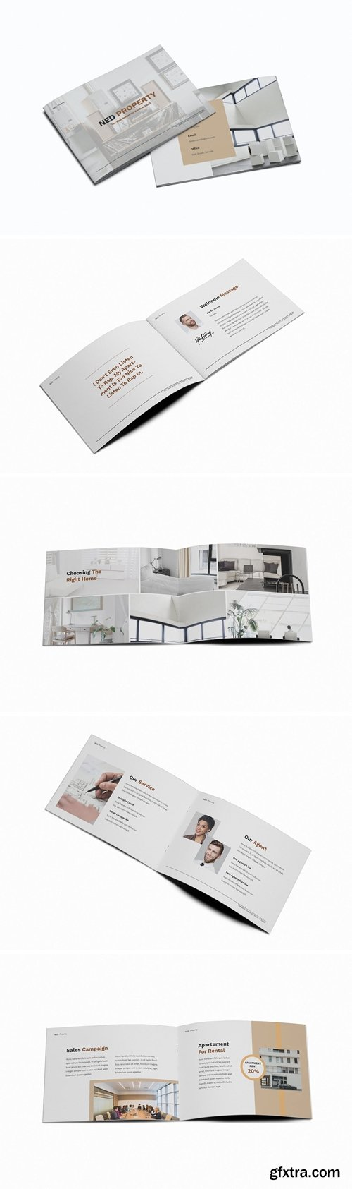Apartment Property A5 Brochure Template