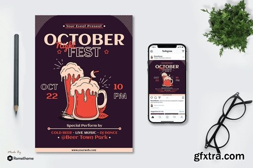 October Night Fest - Flyer & Instagram Post GR