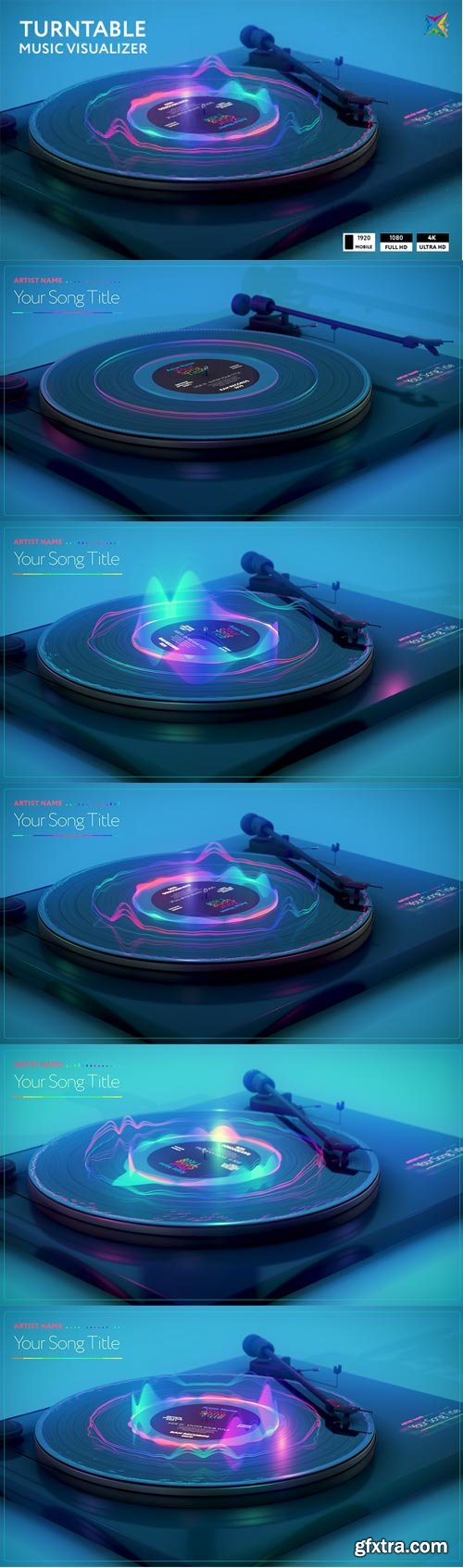 Videohive - Turntable Music Visualizer - 28772033