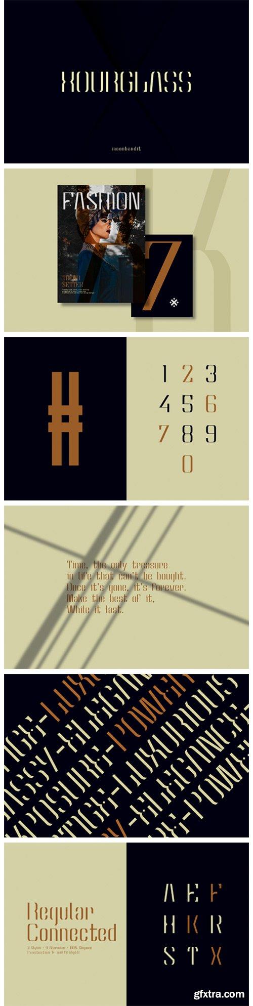 Hourglass Font