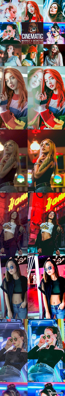 GraphicRiver - Cinematic Neon Portrait Presets Lightroom 29048487
