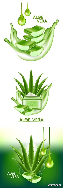 Aloe vera collagen and serum for skin care cosmetic