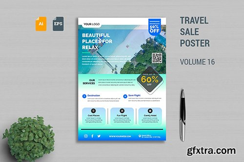 Travel Sale Poster Template Vol. 16