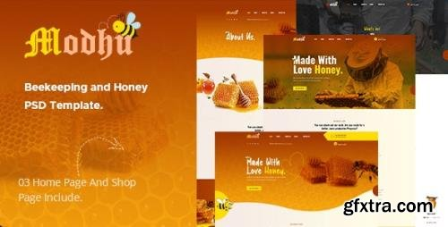 ThemeForest - Modhu v1.0 - Beekeeping and Honey PSD Template - 28958006