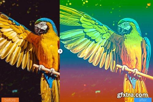CreativeMarket - Super Painting Photoshop Action 5444625