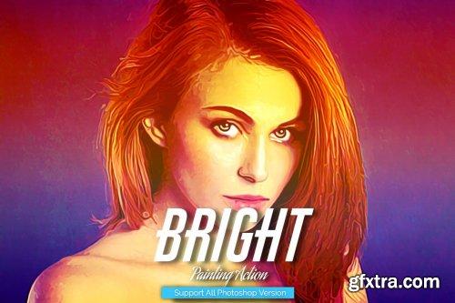 CreativeMarket - Bright Painting Photoshop Action 5444607