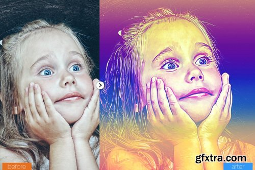 CreativeMarket - MultiColor Painting Photoshop Action 5444683