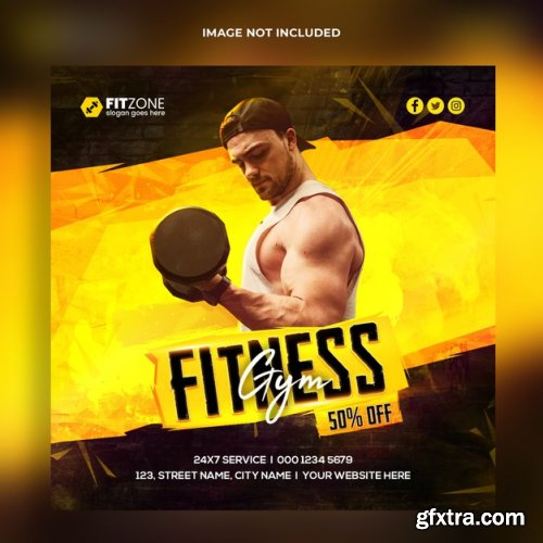 Fitness instagram banner template