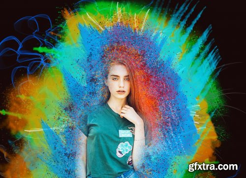 CreativeMarket - Explosion Color Photoshop Action 5247557