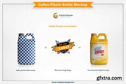 CreativeMarket - Gallon Plastic Bottle Mockup 5199527