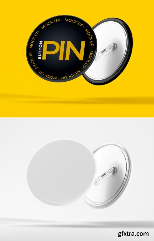 Floating Button Pin Mockup 385827744