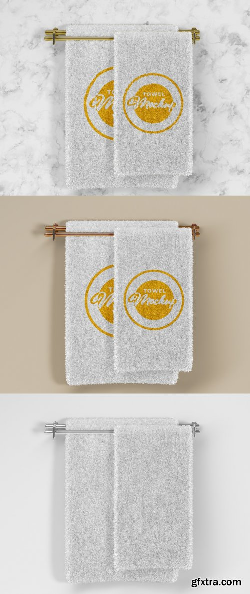 Folded Soft Terry Towel Mockup 385835709