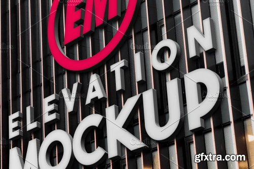 CreativeMarket - Elevation Signboard Mockups 5475456