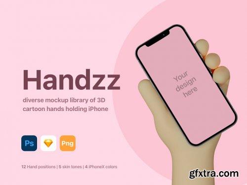 CreativeMarket - Handzz - 3D Hands Mockup 5452965