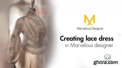 ArtStation – Tutorial on creating lace dress in Marvelous designer by Marianna Yakimova