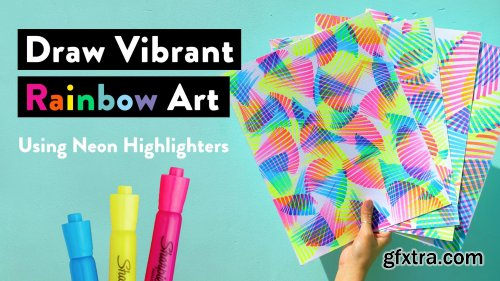 Draw Vibrant Rainbow Art: Easy Tips to Create Abstract Masterpieces Using Neon Highlighters
