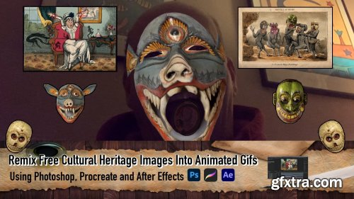 Remix Free Cultural Heritage Images Into Animated Gifs Using Photoshop, Procreate and After Effects
