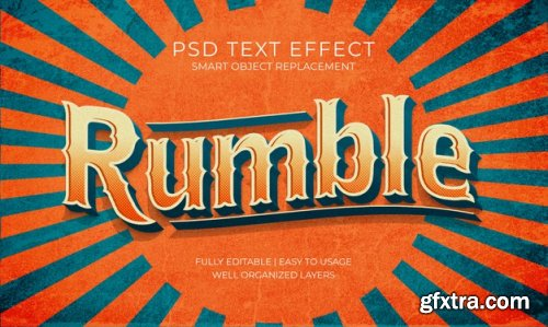 3d text style effect template