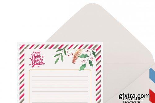 CreativeMarket - A6 Envelope and Card Mockup 5514461