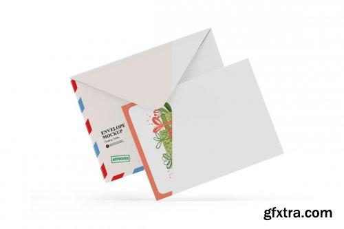CreativeMarket - A5 Envelope and Card Mockup 5514419