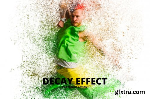 CreativeMarket - Decay Effect Photoshop Action 5125406